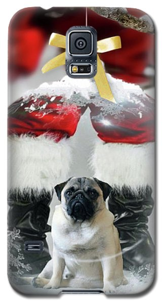 Pug And Santa Galaxy S5 Case