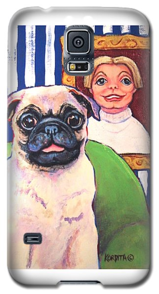 Pug - Beth Ann And Butch Galaxy S5 Case by Rebecca Korpita