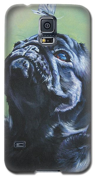 Pug Black  Galaxy S5 Case