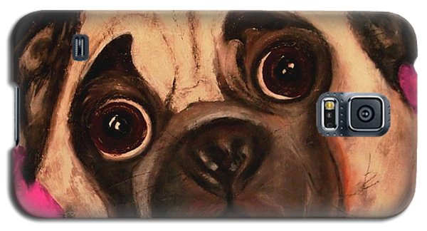 Pug - Chloe Galaxy S5 Case by Laura  Grisham