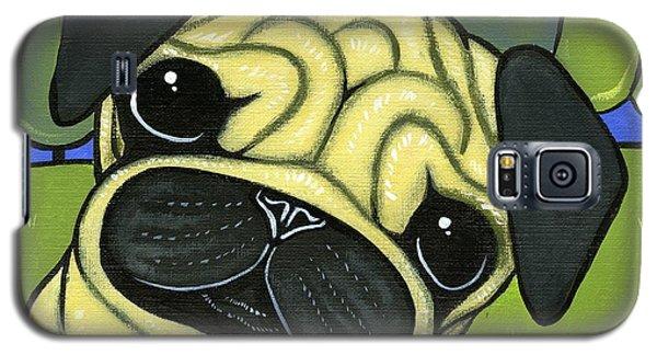 Pug Galaxy S5 Case by Leanne Wilkes