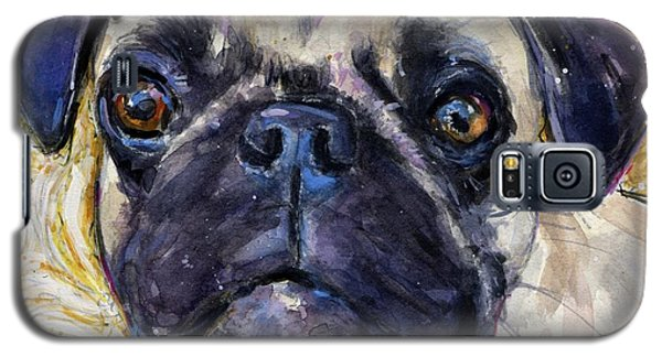 Pug Mug Galaxy S5 Case by Molly Poole