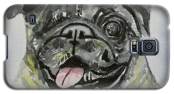 One Eyed Pug Portrait Galaxy S5 Case