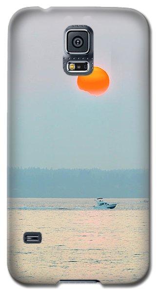 Puget Sound Under The Heavy Smoke Galaxy S5 Case