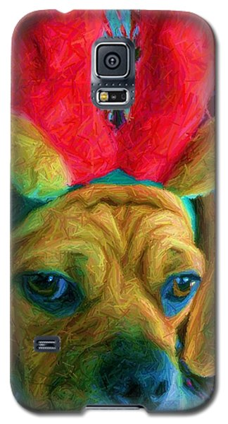 Galaxy S5 Case featuring the photograph Puggle Holiday by Susan Carella