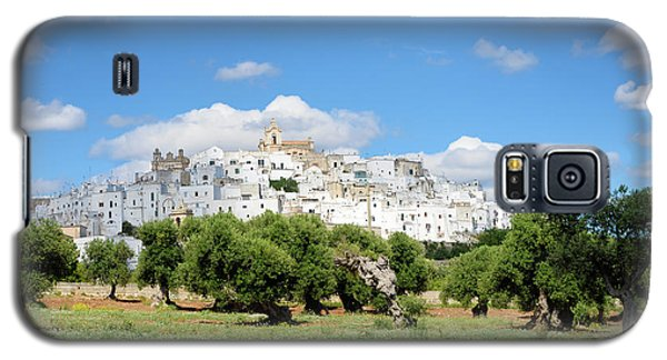 Puglia White City Ostuni With Olive Trees Galaxy S5 Case