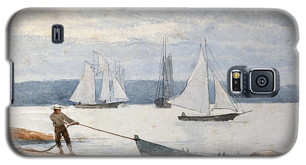 Boat Galaxy S5 Case - Pulling The Dory by Winslow Homer
