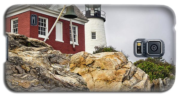 Galaxy S5 Case featuring the photograph Pumphouse And Tower, Pemaquid Light, Bristol, Maine  -18958 by John Bald