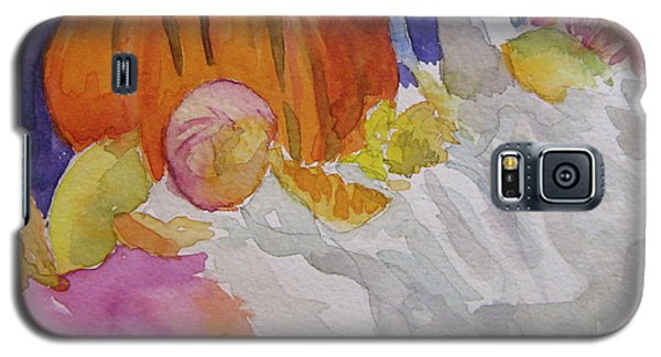 Galaxy S5 Case featuring the painting Pumpkin Still Life by Beverley Harper Tinsley