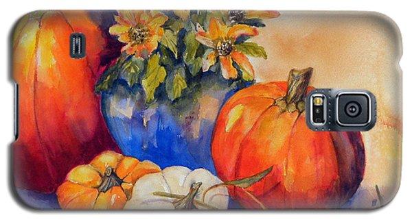 Pumpkins And Blue Vase Galaxy S5 Case