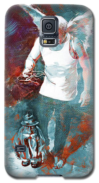 Galaxy S5 Case featuring the painting Puppet Man 003 by Gull G