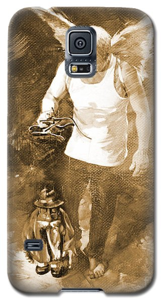Galaxy S5 Case featuring the painting Puppet Show by Gull G