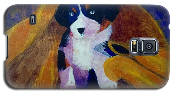 Galaxy S5 Case featuring the painting Puppy Bath by Donald J Ryker III
