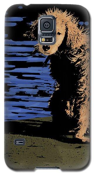 Puppy On Pier Pop Art Galaxy S5 Case