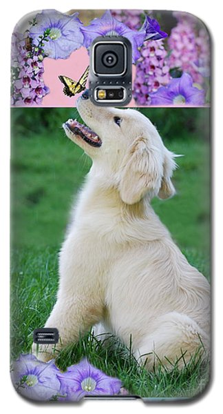 Galaxy S5 Case featuring the photograph Puppy's World by Lila Fisher-Wenzel