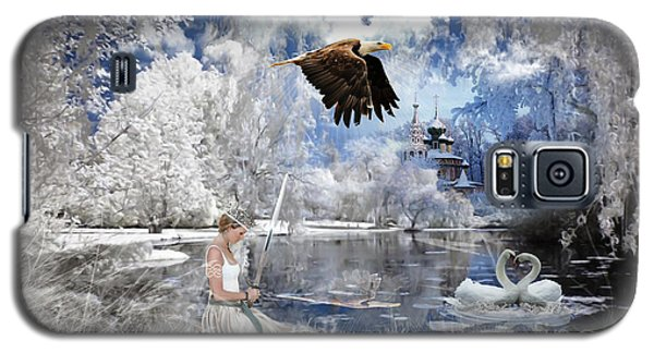 Swan Galaxy S5 Case - Pure Hearted Warrior by Dolores Develde