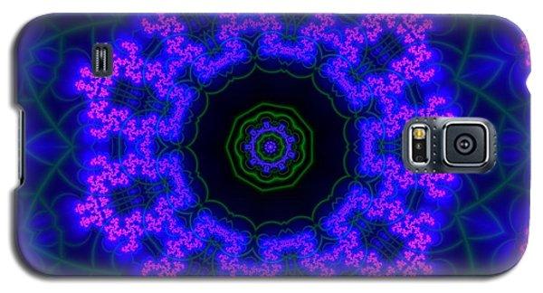 Galaxy S5 Case featuring the digital art Purple 9 Lightmandala by Robert Thalmeier
