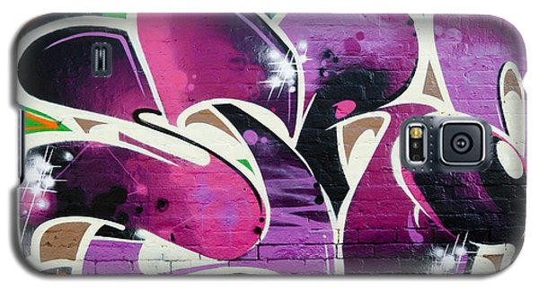 Galaxy S5 Case featuring the painting Purple Abstract Graffiti by Yurix Sardinelly