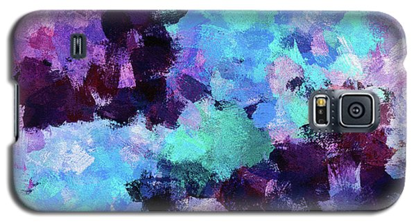 Galaxy S5 Case featuring the painting Purple And Blue Abstract Art by Ayse Deniz