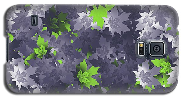 Purple And Green Leaves Galaxy S5 Case by Methune Hively