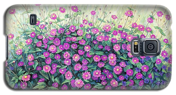 Purple And Pink Flowers Galaxy S5 Case