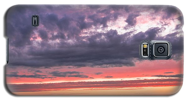 Purple And Red Sky Over Warsaw And Vistula River Galaxy S5 Case