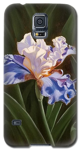 Purple And White Iris Galaxy S5 Case