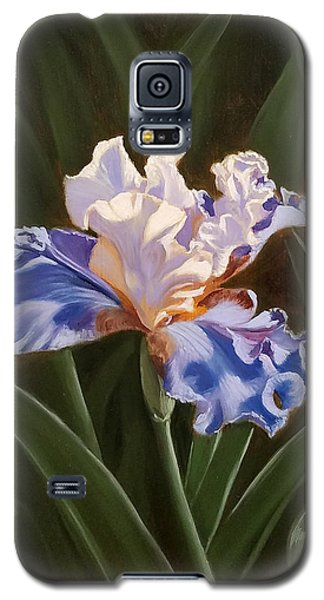 Purple And White Iris Galaxy S5 Case