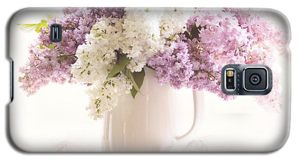 Galaxy S5 Case featuring the photograph Purple And White Lilacs Still Life by Sylvia Cook