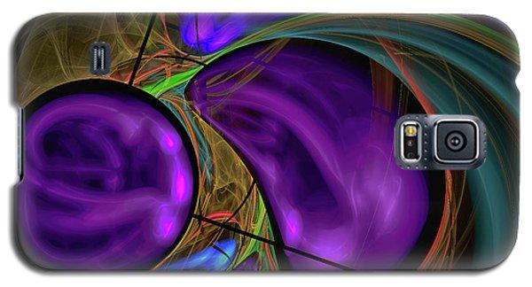 Galaxy S5 Case featuring the digital art Purple Anyone by Deborah Benoit