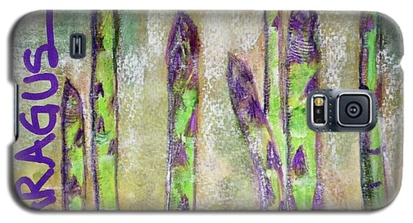 Galaxy S5 Case featuring the painting Purple Asparagus by Kim Nelson