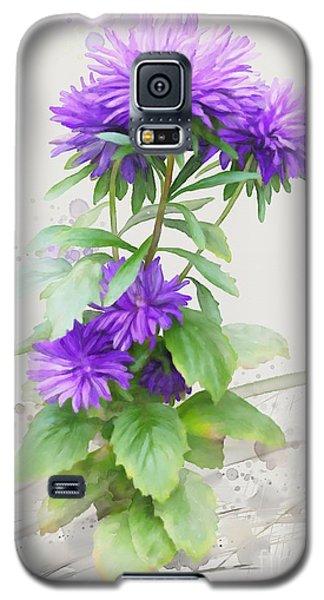 Purple Aster Galaxy S5 Case