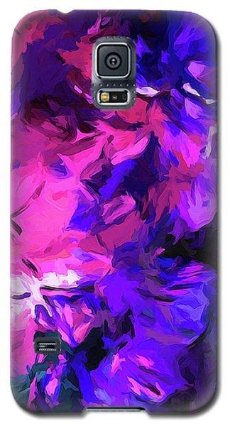 Purple Behind Pink Galaxy S5 Case