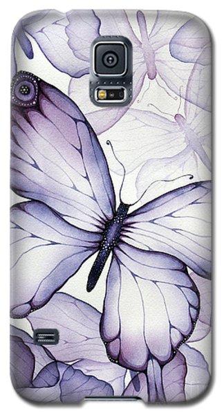 Purple Butterflies Galaxy S5 Case