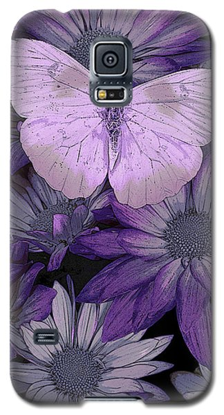 Purple Butterfly Galaxy S5 Case