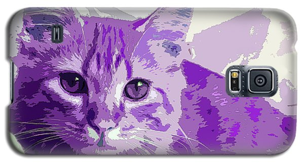 Purple Cat Galaxy S5 Case