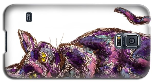 Purple Cat Galaxy S5 Case