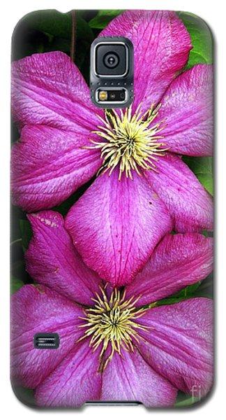 Purple Clematis 2 Galaxy S5 Case