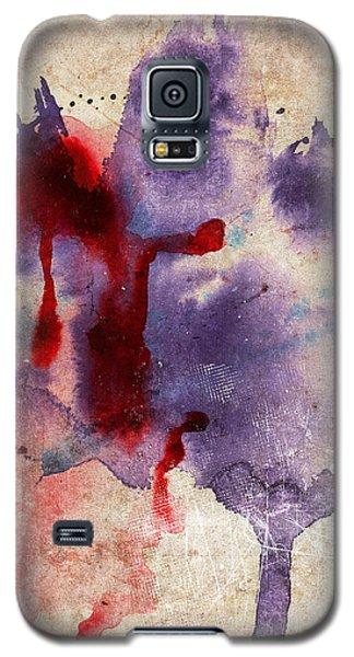 Purple Color Splash Galaxy S5 Case