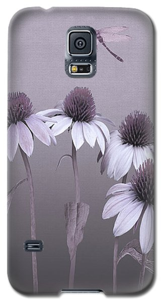Purple Coneflowers And Dragonfly Galaxy S5 Case