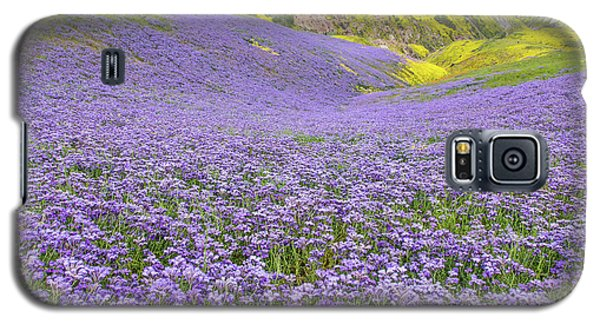 Galaxy S5 Case featuring the photograph Purple  Covered Hillside by Marc Crumpler