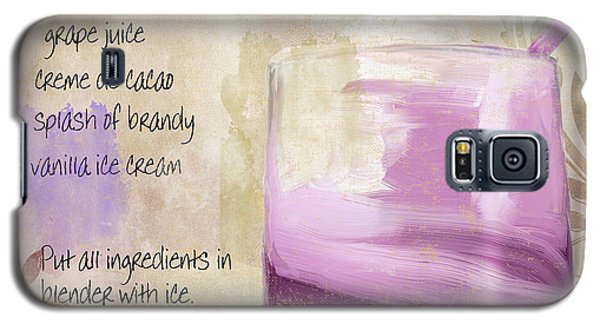 Purple Cow Mixed Cocktail Recipe Sign Galaxy S5 Case by Mindy Sommers
