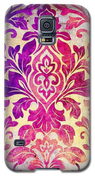Purple Damask Pattern Galaxy S5 Case