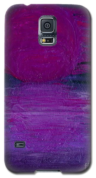 Galaxy S5 Case featuring the painting Purple Dawn by Ania M Milo