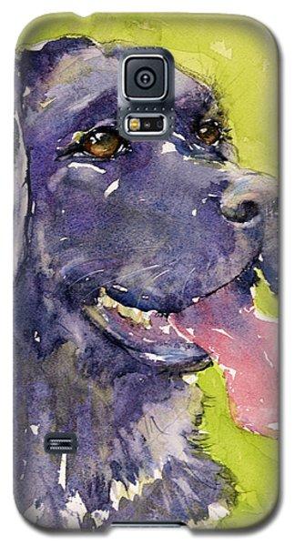 Purple Dog Galaxy S5 Case by Judith Levins