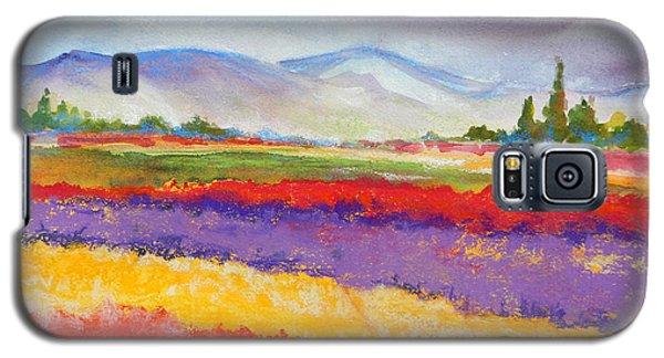 Purple Fields Galaxy S5 Case