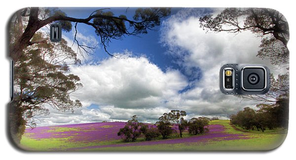 Galaxy S5 Case featuring the photograph Purple Fields by Douglas Barnard