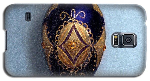 Purple Filigree Egg Ornament Galaxy S5 Case