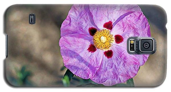 Purple Rockrose Galaxy S5 Case