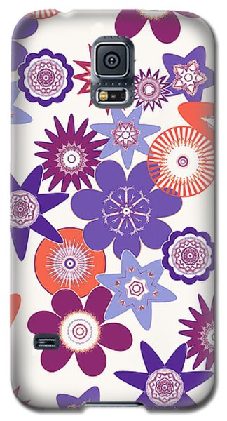 Purple Flower Fantasy Galaxy S5 Case by Methune Hively